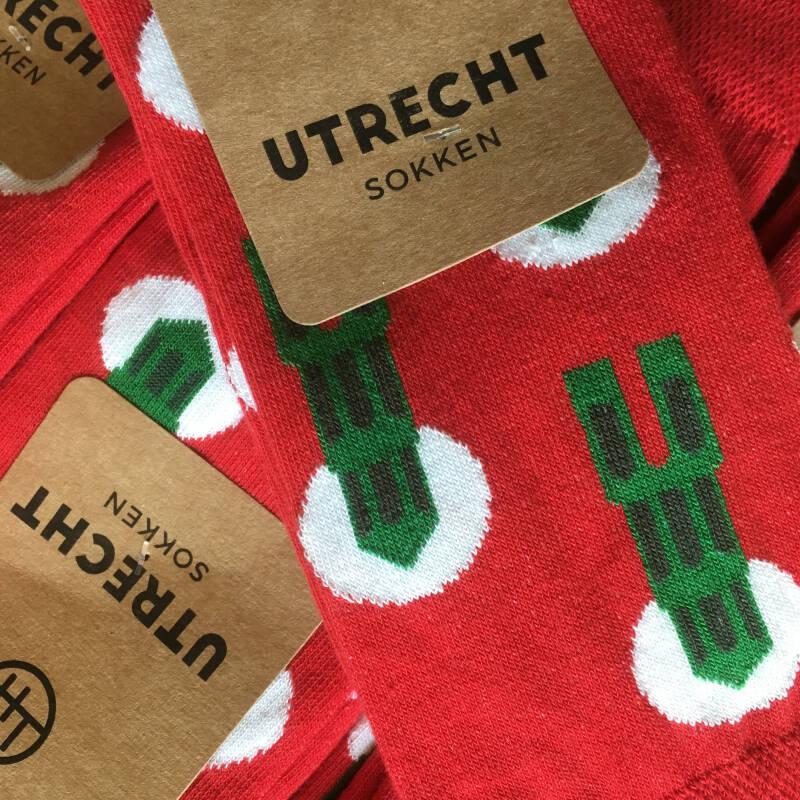 Utrechtse sokken domtorens rood 35-38