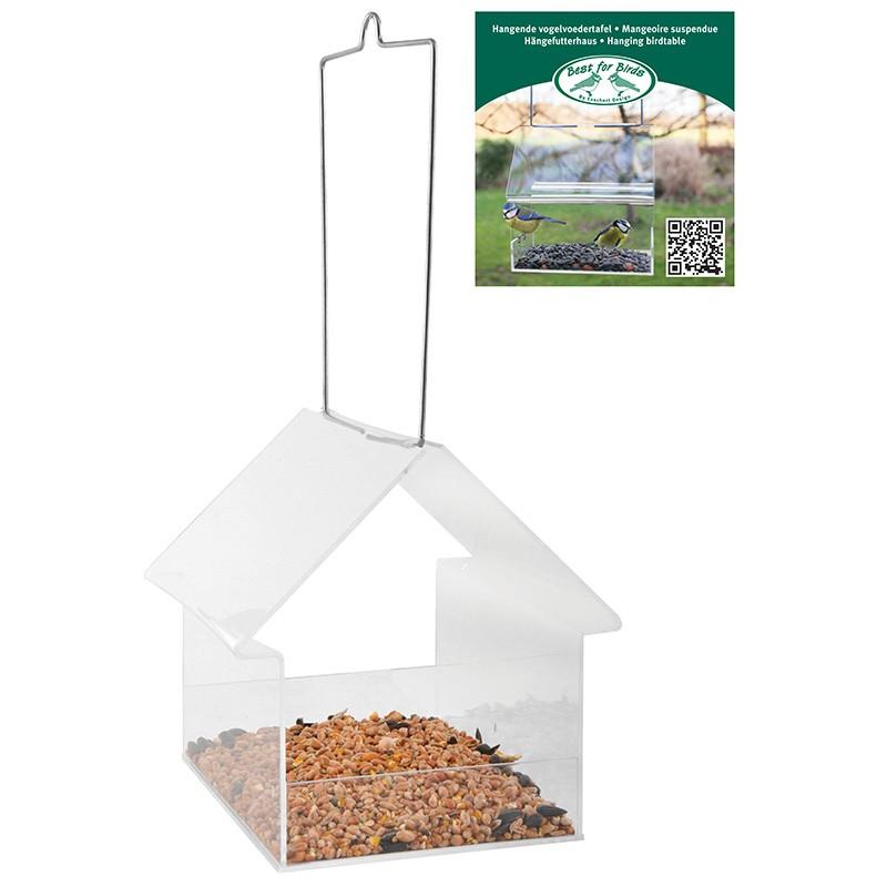 Acryl hangende voedertafel huis