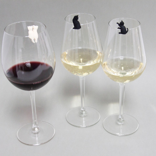 Meow wine glass markers set 6
