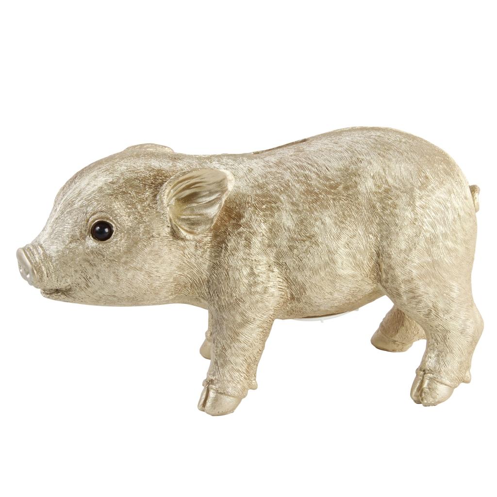 Coinbank pig gold