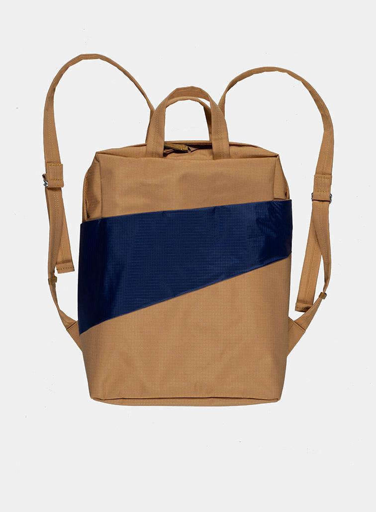 Backpack camel & navy