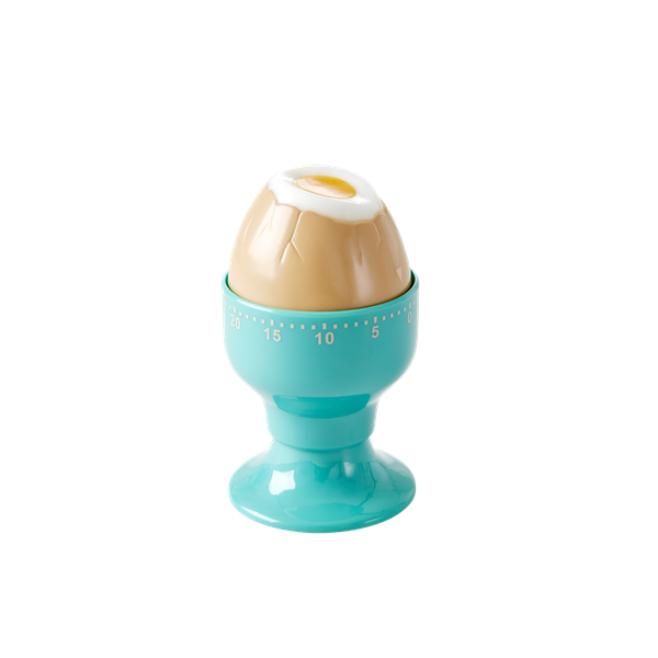 Egg cup kitchen timer green