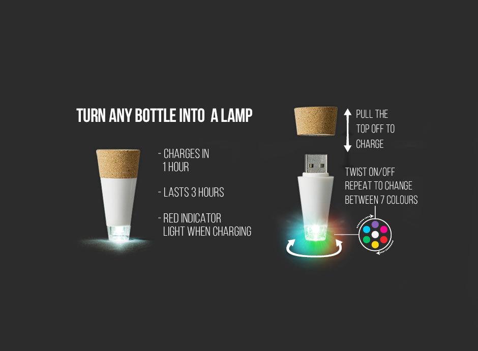 Bottlelight multi colour