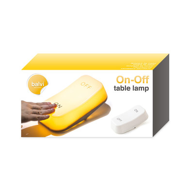 Table lamp ON-OFF white