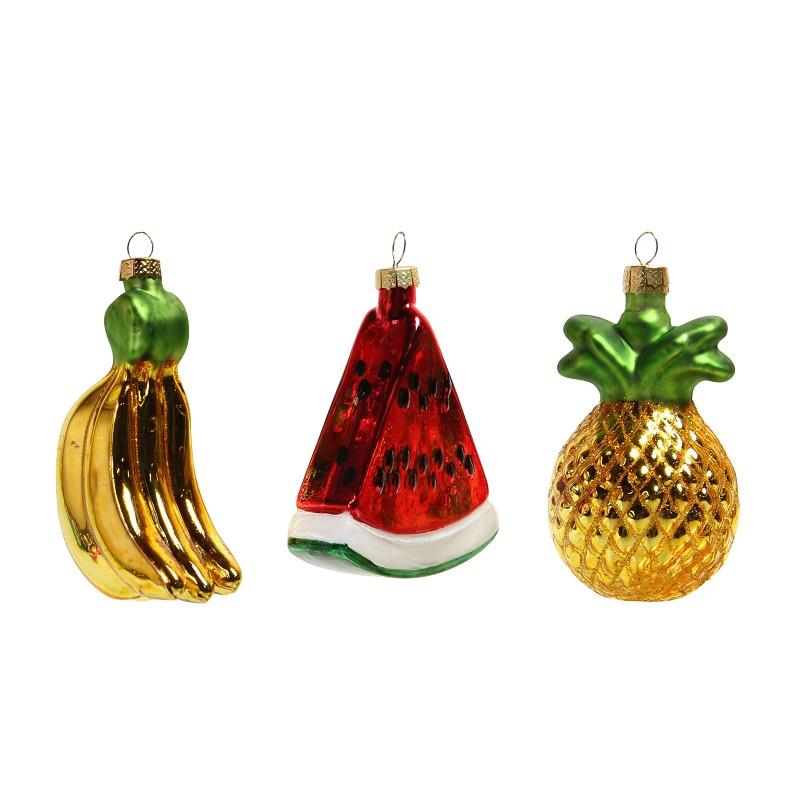 Fruit ornaments set van 3