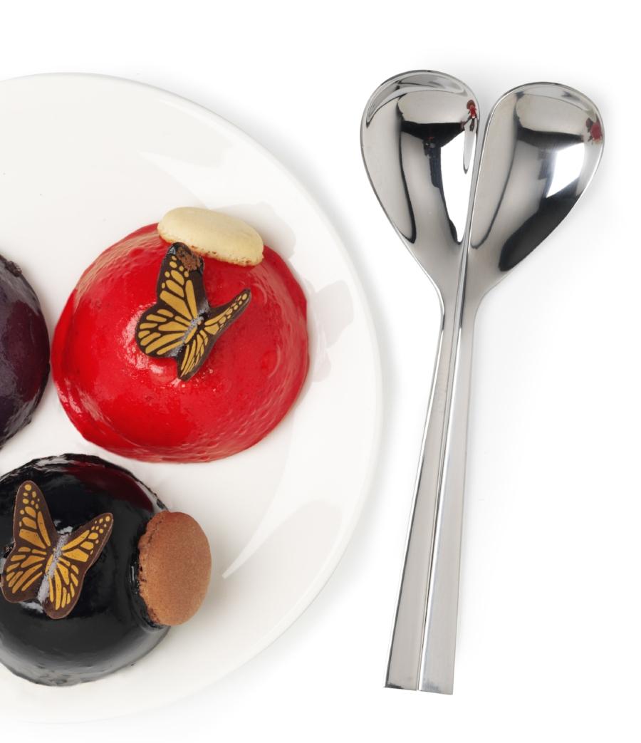 Heart spoon set of 2