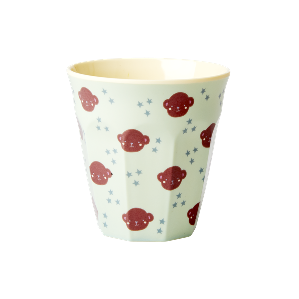 Melamine kids cup with monkey print
