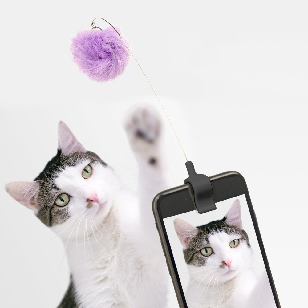 Kitty phone clip roze