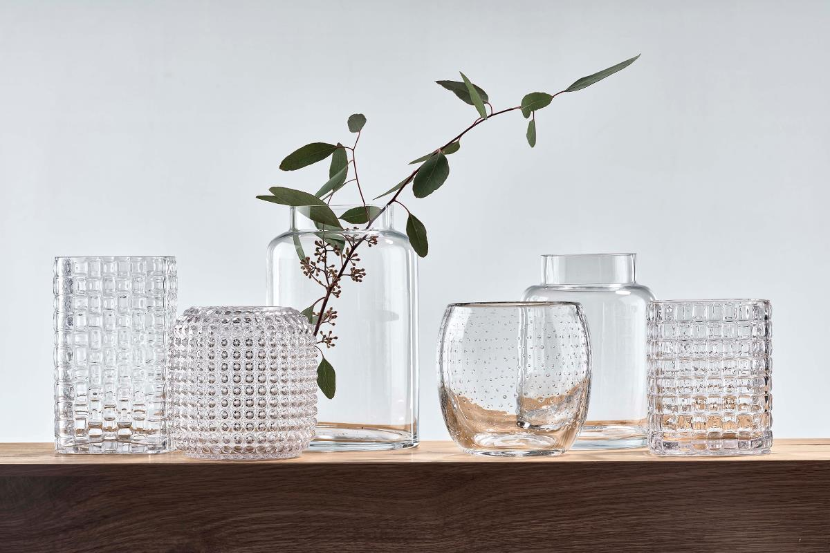 Vase glass clear small