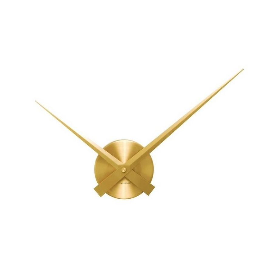Wall clock little big time mini gold