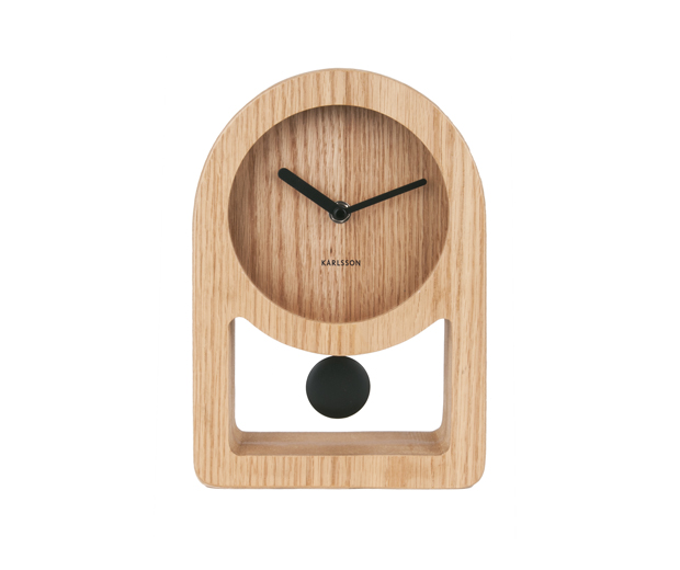 Table clock Lena pendulum wood