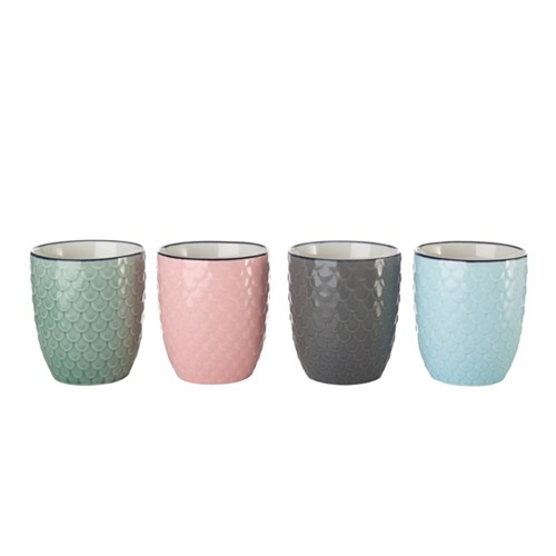 Cups colour scales set of 4