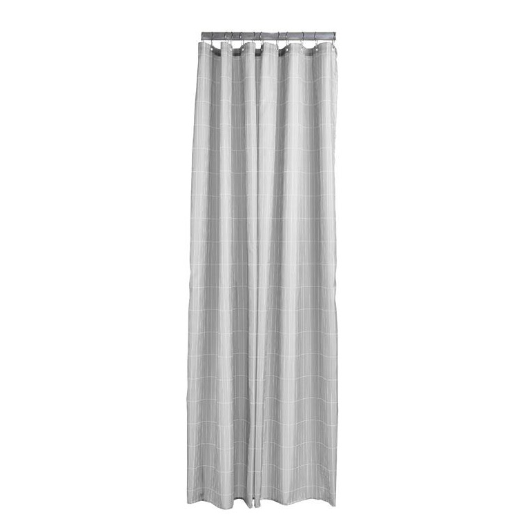 Shower curtain soft grey tiles