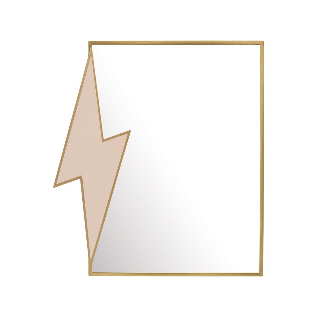Mirror standing lightning bolt