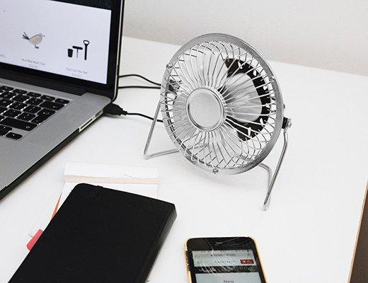 USB metal desk fan black
