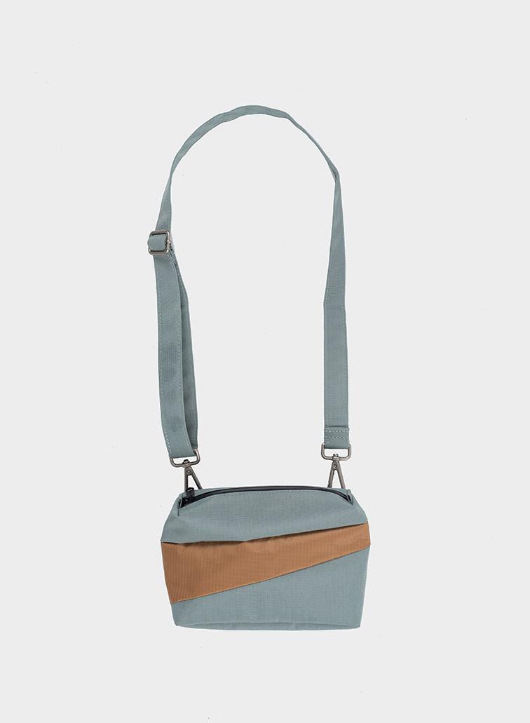 Bum bag grey & camel S