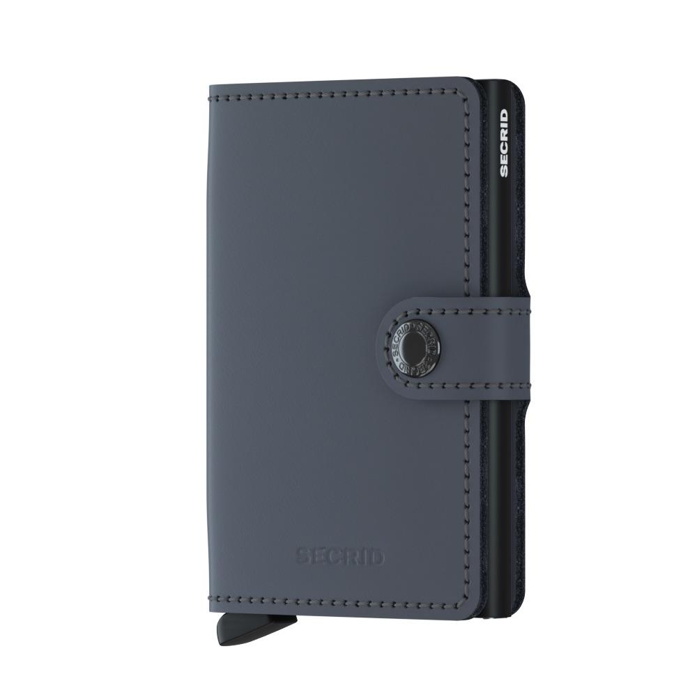 Mini wallet matte grey-black