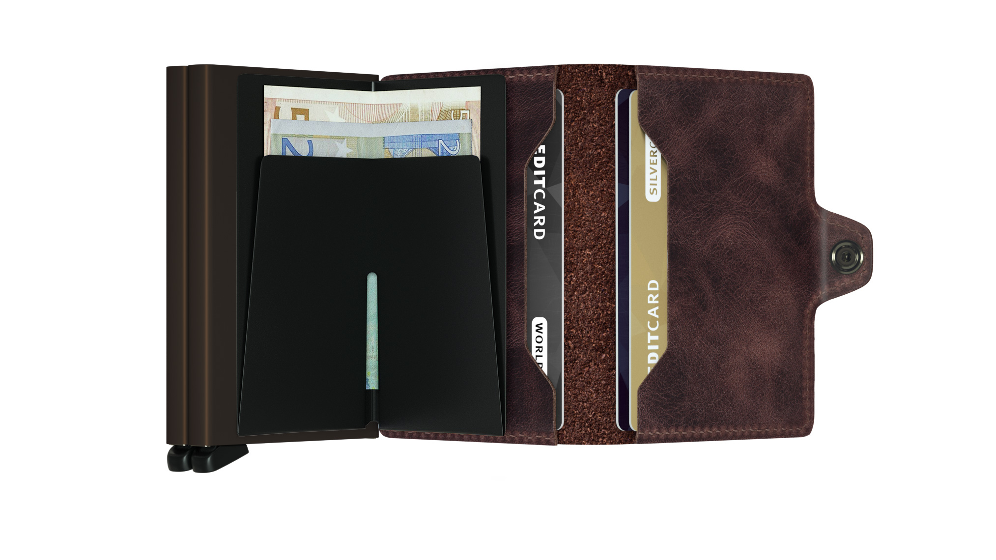 Twin wallet vintage chocolate