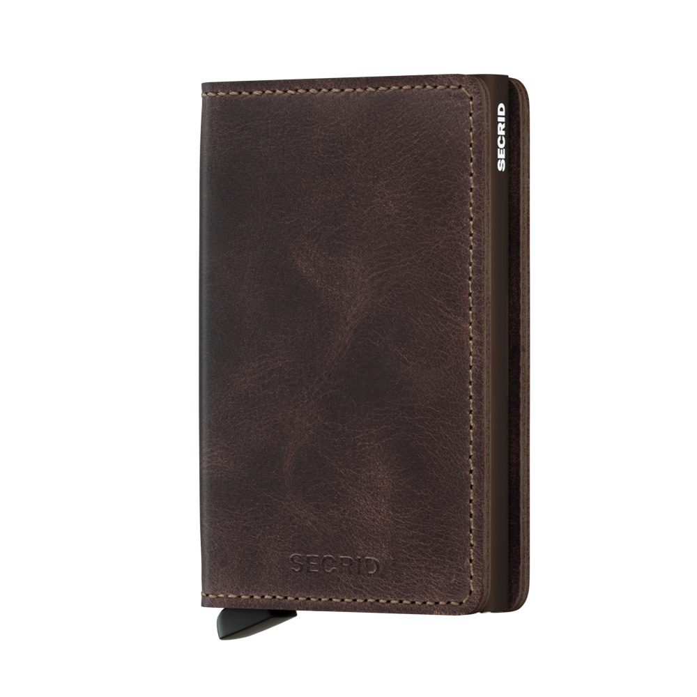 Slim wallet vintage chocolate