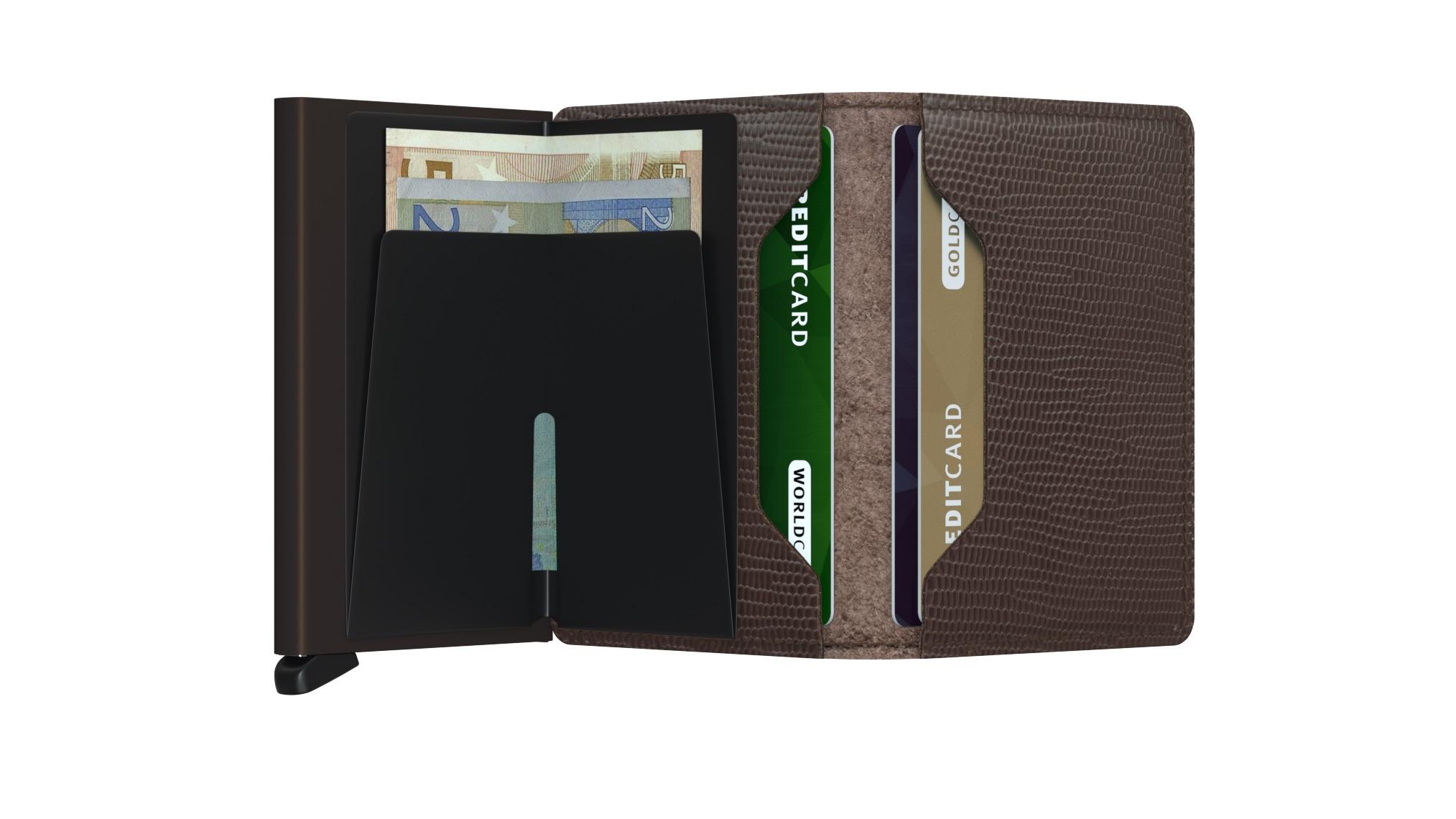 Slim wallet rango brown-brown