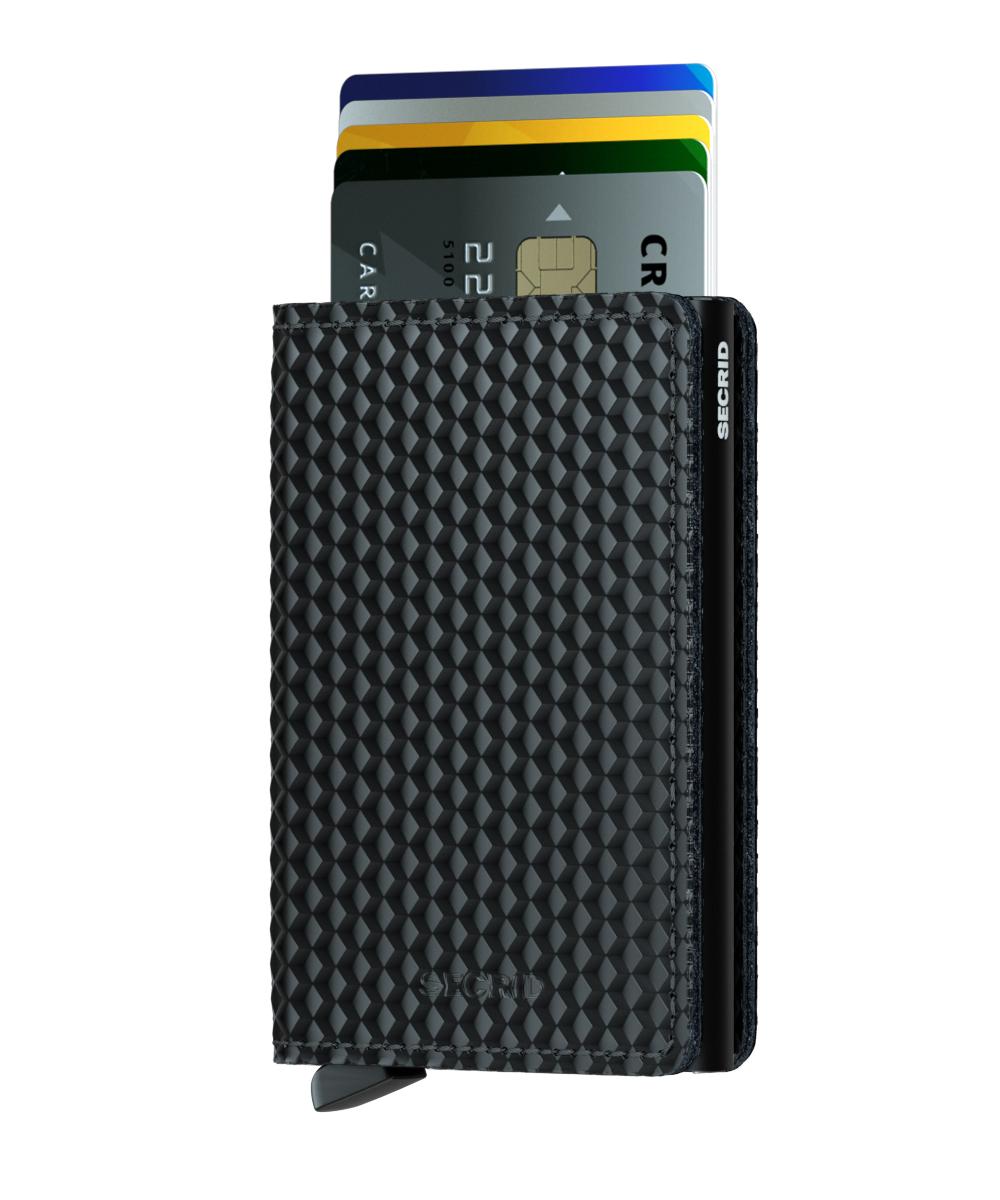 Slim wallet cubic black-black