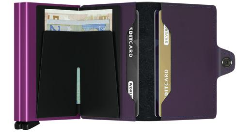Twin wallet matte purple