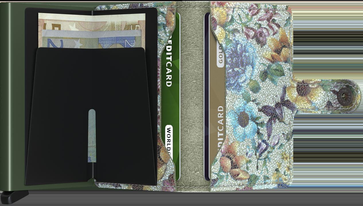 Mini wallet crisple pistachio floral