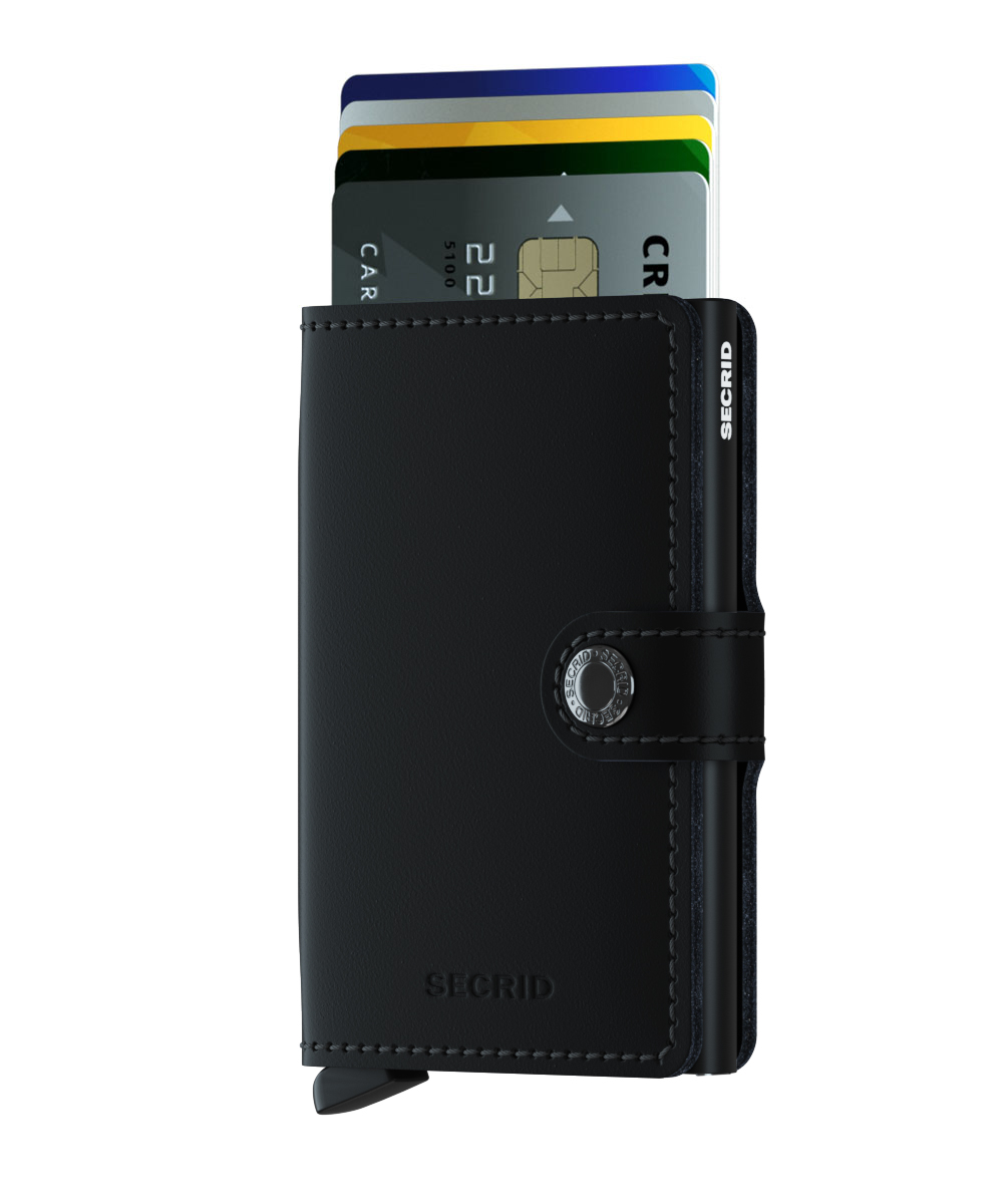 Mini wallet matte black