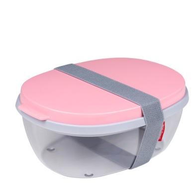 Saladbox ellipse nordic pink