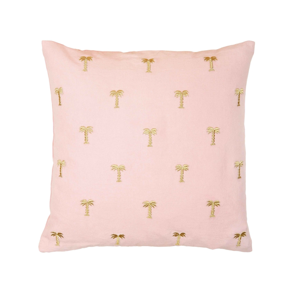 Cushion palm tree pink 40x40