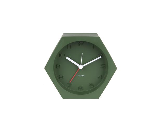 Alarm clock hexagon concrete green