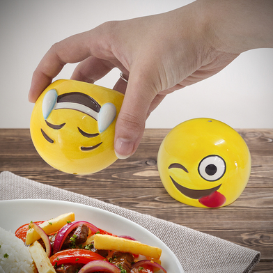 Salt & pepper set emoji ceramic