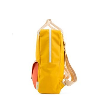 Backpack envelope large warm yellow soft pink