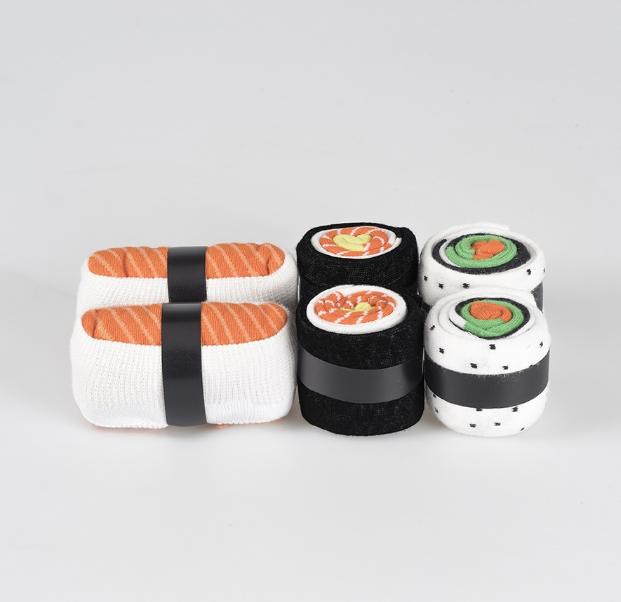 Sushi socks salmon love