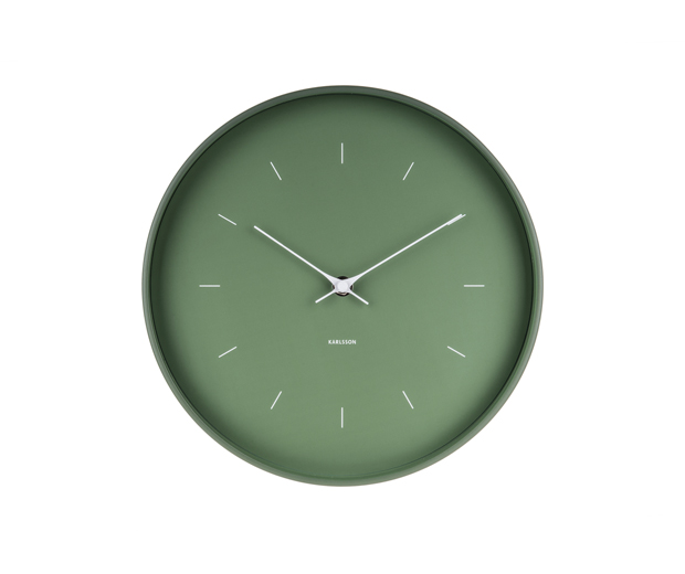 Wall clock butterfly hands dark green