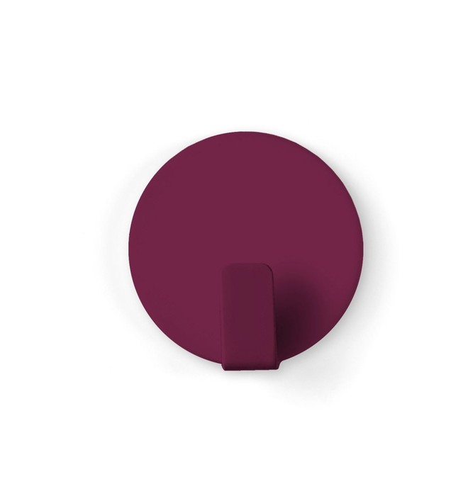 Magnetic hook solid bordeaux set of 4