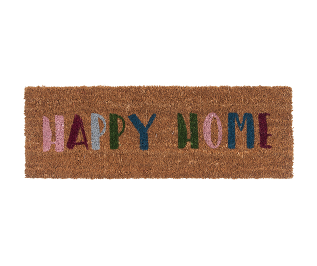 Deurmat happy home multi colour