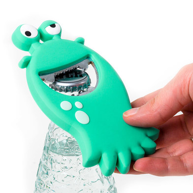 Bottle opener monster turquoise