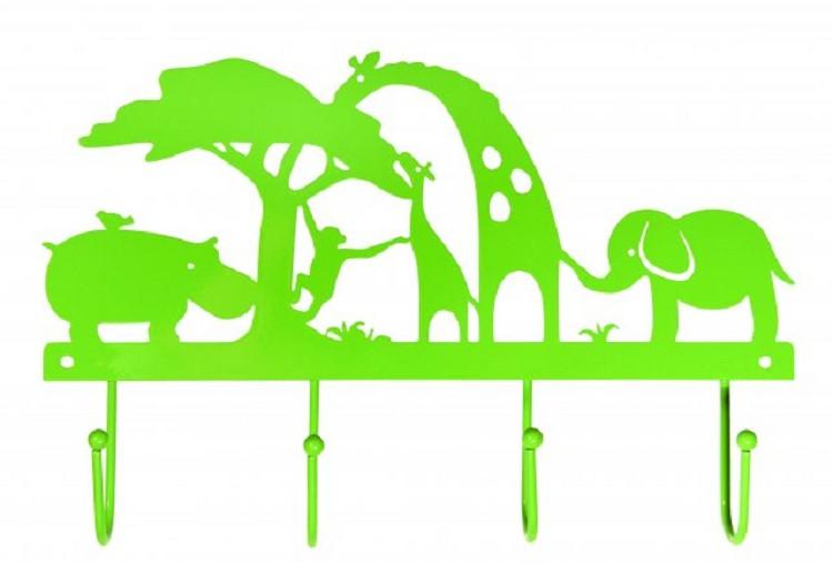Kapstok metaal safari groen