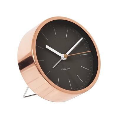 Alarm clock minimal black copper