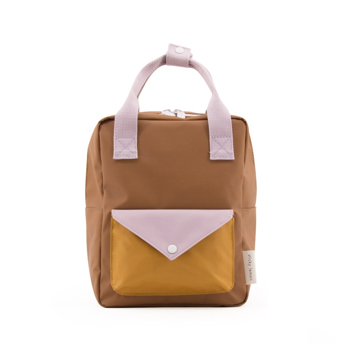 Backpack envelope S sugar brown violet caramel fudge
