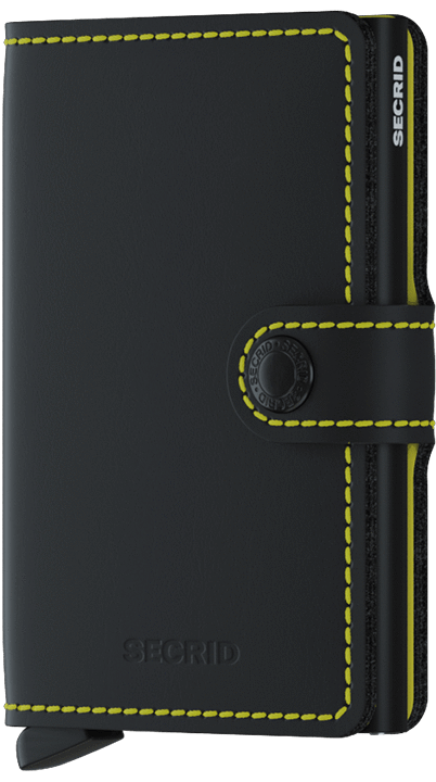 Miniwallet matte black & yellow