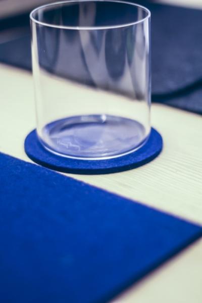 Onderzetter 9cm dark blue 18