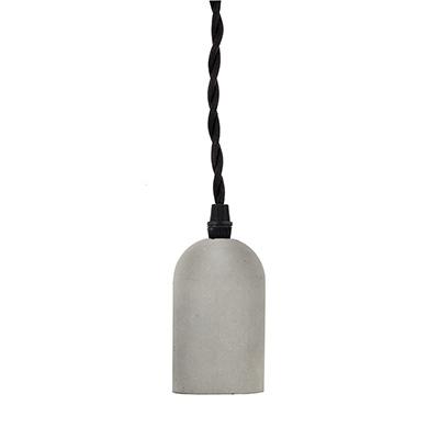 Concrete pendant lamp cylinder