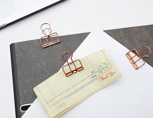 Wire clips set of 6 copper