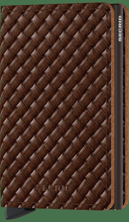 Slim wallet Basket brown