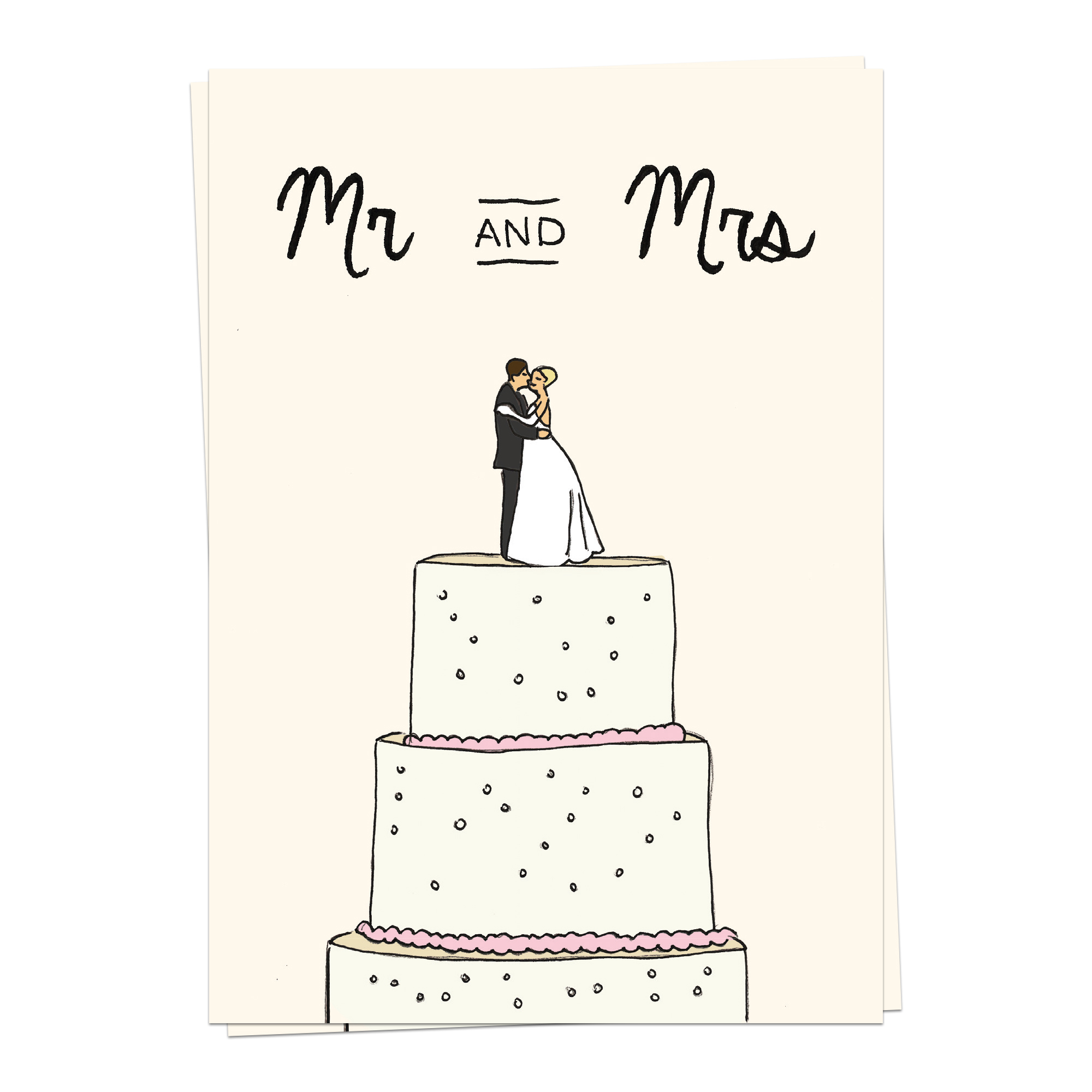 Love – Mr Mrs Wedding Cake
