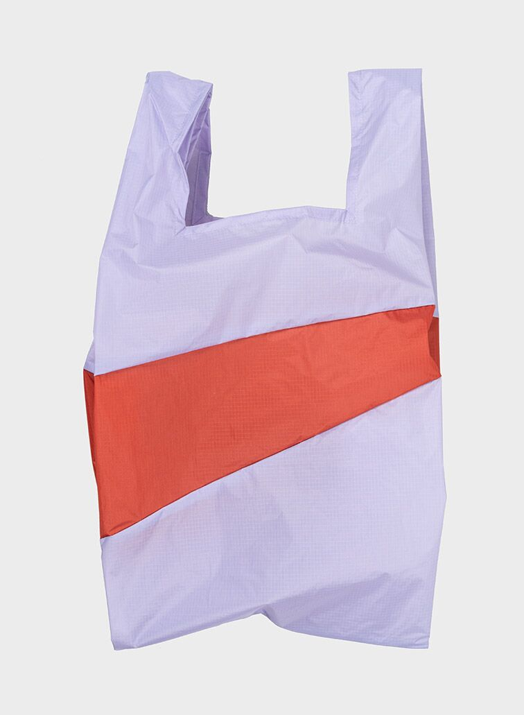 Shoppingbag 2012 lavender & rust L