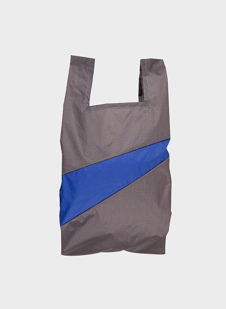 Shoppingbag 2006 warm grey & electric blue M