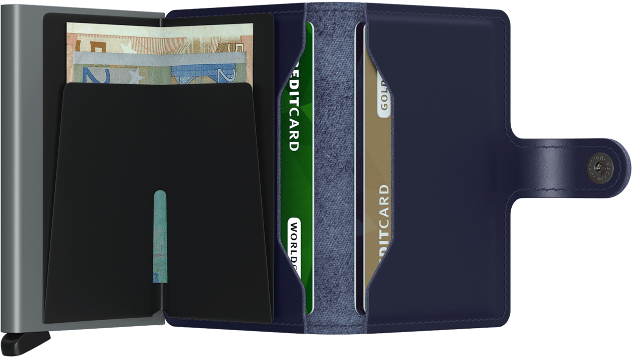 Miniwallet metallic blue
